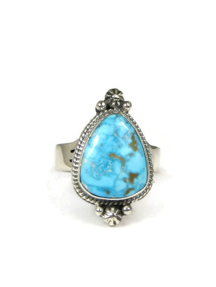 Kingman Turquoise Ring Size 7 by Lucy Valencia