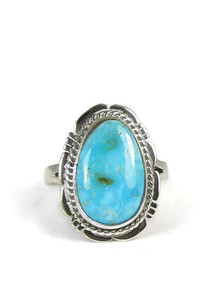 Turquoise Mountain Gem Ring Size 7 by Jake Sampson