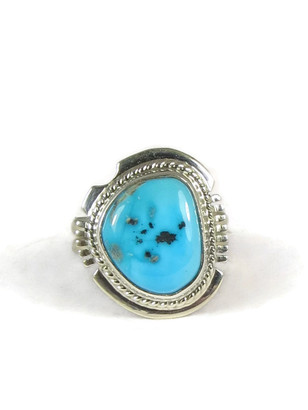 Sleeping Beauty Turquoise Ring Size 6 by Larson Lee