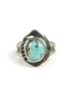Number 8 Turquoise Ring Size 7 1/2 by Phillip Sanchez