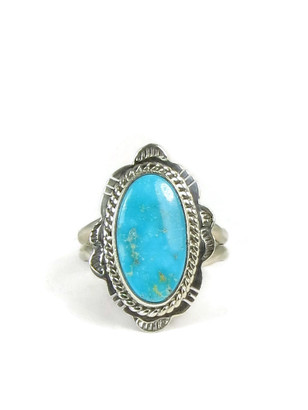 Kingman Turquoise Ring Size 8 by Burt Francisco
