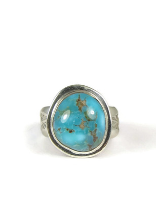 Candalaria Turquoise Ring Size 8 by Lena Platero