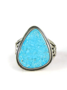Kingman Turquoise Ring Size 9 by Lena Platero