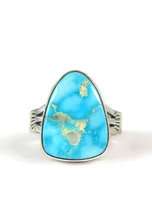 Turquoise Mountain Gem Ring Size 8 by Curtis Paul