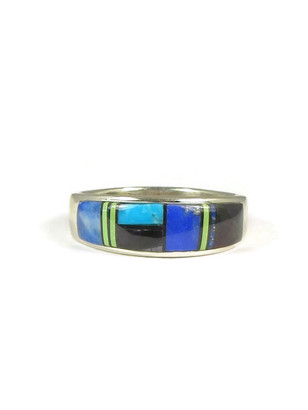 Multi Gemstone Inlay Ring Size 12 1/4