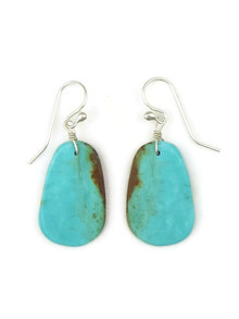 Turquoise Slab Earrings by Ronald Chavez (ER4434)