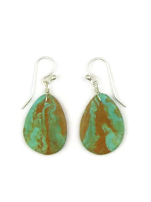 Turquoise Slab Earrings by Ronald Chavez (ER4435)