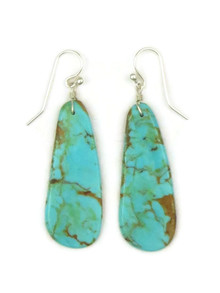 Turquoise Slab Earrings by Ronald Chavez (ER4436)