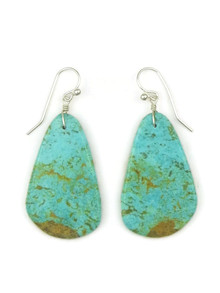 Turquoise Slab Earrings by Ronald Chavez (ER4438)