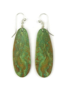 Turquoise Slab Earrings by Ronald Chavez (ER4439)