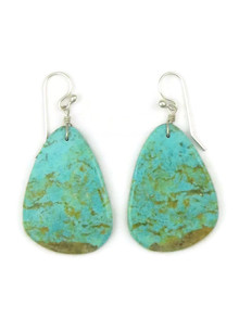 Turquoise Slab Earrings by Ronald Chavez (ER4440)