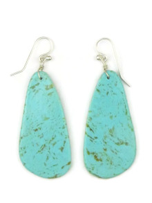 Turquoise Slab Earrings by Ronald Chavez (ER4441)