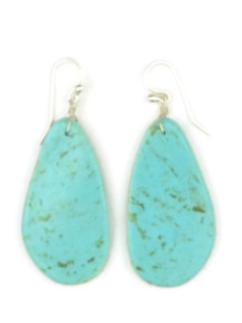 Turquoise Slab Earrings by Ronald Chavez (ER4442)
