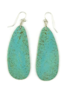 Turquoise Slab Earrings by Ronald Chavez (ER4443)