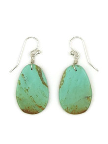 Turquoise Slab Earrings by Ronald Chavez (ER4444)