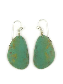 Turquoise Slab Earrings by Ronald Chavez (ER4451)