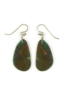 Turquoise Slab Earrings by Ronald Chavez (ER4452)