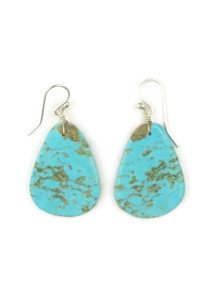 Turquoise Slab Earrings by Ronald Chavez (ER4454)