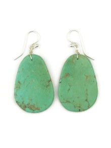Turquoise Slab Earrings by Ronald Chavez (ER4456)