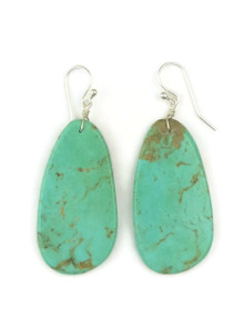 Turquoise Slab Earrings by Ronald Chavez (ER4457)