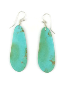 Turquoise Slab Earrings by Ronald Chavez (ER4458)