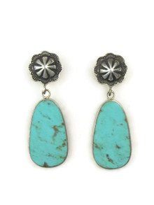 Sterling Silver Concho Post Slab Earrings by Ronald Chavez (ER4459)