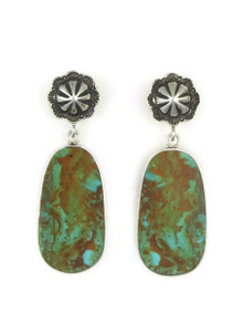 Sterling Silver Concho Post Slab Earrings by Ronald Chavez (ER4461)