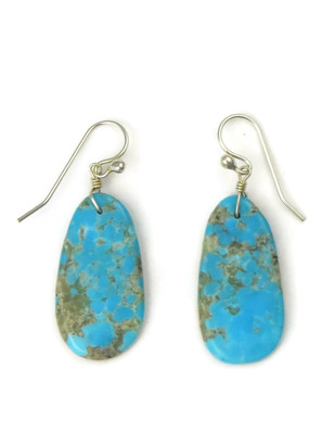 Turquoise Slab Earrings by Ronald Chavez (ER4466)