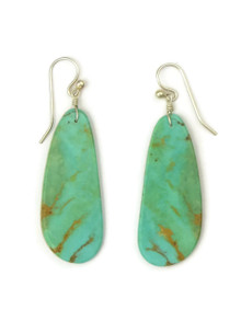 Turquoise Slab Earrings by Ronald Chavez (ER4467)