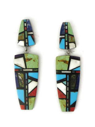 Mosaic Inlay Earrings by Christopher Nieto