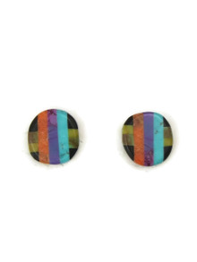 Gemstone Inlay Post Earrings by Ronald Chavez (ER4471)