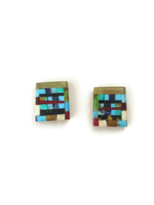 Mosaic Inlay Post Earrings by Ronald Chavez (ER4473)