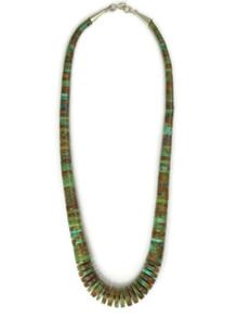 "Turquoise Heishi Necklace 18"""