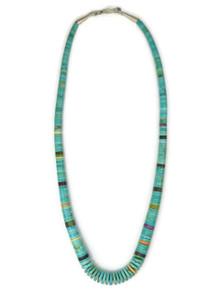 """Turquoise & Gemstone Heishi Necklace 19"""""""