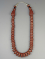 "Pipestone Bead Necklace 24"" by Christopher Nieto"
