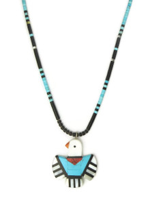 Mosaic Inlay Thunderbird Necklace by Ronald Chavez