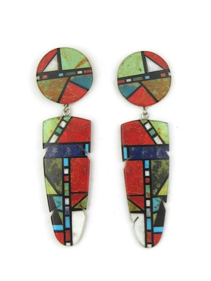 Mosaic Inlay Earrings by Christopher Nieto (ER4475)