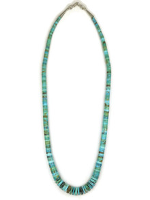 "Turquoise Heishi Necklace 20"" by Ronald Chavez (NK3304)"