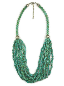Eight Strand Turquoise Bead Necklace