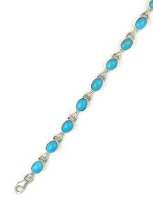 Sleeping Beauty Turquoise Link Bracelet (BR5593)