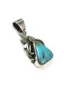 Kingman Turquoise Pendant by Les Baker