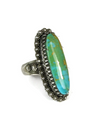Natural Turquoise Mountain Gem Ring Size 9 1/2 by Les Baker