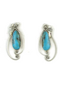 Kingman Turquoise Earrings by Les Baker