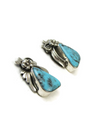 Kingman Turquoise Post Earrings by Les Baker