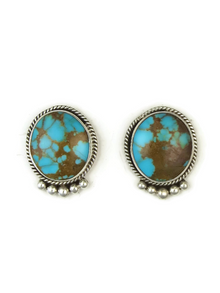 Royston Turquoise Post Earrings by Les Baker