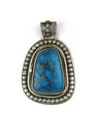 Natural Chinese Turquoise Pendant by Les Baker