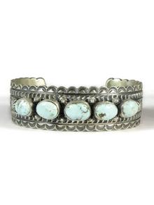 Dry Creek Turquoise Row Bracelet by Jane Defauto