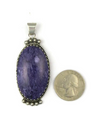 Sterling Silver Charoite Pendant by Les Baker