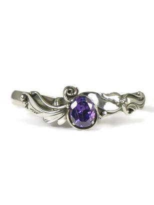 Sterling Silver Amethyst Bracelet by Les Baker Jewelry