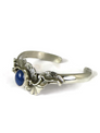Sterling Silver Lapis Bracelet by Les Baker Jewelry (BR5599)